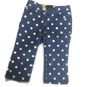 Girl's Mini Boden Polk Dot Capri Pants 4Y
